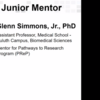 Dr. Glenn Simmons Jr. Recognized as a 2020 Outstanding Junior Mentor