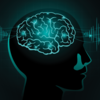 An illustration of the brain with radio waves.