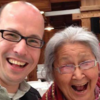 Dr. Jordan Lewis (Unangax, Native Village of Naknek), pictured left, pauses for a photo with Elder and Mentor, Dr. Elizabeth Fleagle (Inupiat Eskimo). This photo was taken before the COVID-19 pandemic.