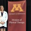 DPT Student Leah Grinvalsky at whitecoat ceremony
