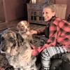 Sally Sawyer with her dogs, Kato and Karma