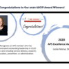 Dr. Leslie Morse's Recognition for the 2020 APS Excellence Award