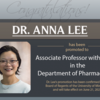 Portrait of Dr. Anna Lee with congratulatory text