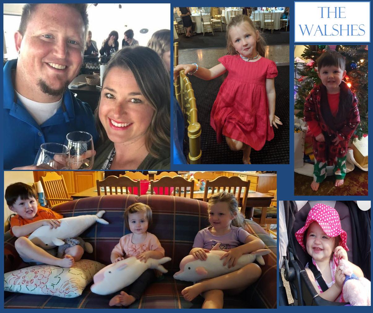 Keegan and Laura Walsh and family