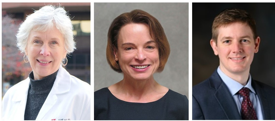 (Left to right): Dr. Kathryn Dusenbery, Dr. Margaret Reynolds, Dr. Chris Wilke