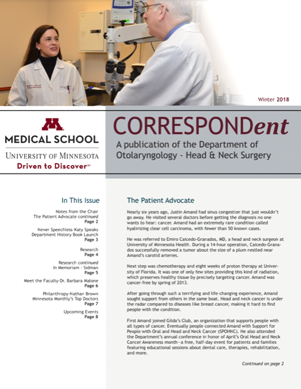 Newsletters Medical School University Of Minnesota